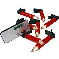 EUROLAMP Bezdrôtové sviečky červené 10 ks - Vianočná reťaz