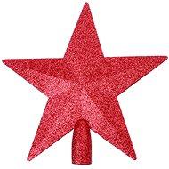 Špica hviezda červená - Vianočné ozdoby