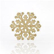 Snehová vločka zlatá kolekcia 5 kusov - Vianočné ozdoby