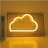 EUROLAMP Neonový mrak, 29,5 × 18,2 × 1,5 cm