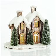 Illuminated Small Cottage, Snow, 29x20x27cm - Christmas Lights