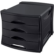 ESSELTE Europost Vivida čierny - Zásuvkový box