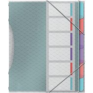 ESSELTE Colour'Ice 6 listov, triediace – mix farieb - Dosky na dokumenty