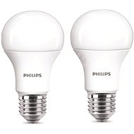 Philips LED 9-60 W E27, 2700 K, Mliečna, súprava 2 ks - LED žiarovka