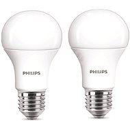 Philips LED 9-60W E27, 2700K, mliečna, set 2 ks - LED žiarovka