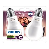 Philips LED Classic 7-60 W, E27, 2700 K, Mliečna, súprava 2 ks - LED žiarovka
