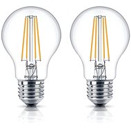 Philips LEDClassic Filament Retro 6-60W, E27, 2700K, číra, set 2ks - LED žiarovka