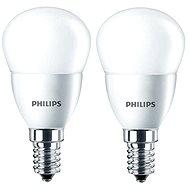 Philips LED kvapka 5,5 – 40 W, E14, 2700 K, matná, súprava 2 ks - LED žiarovka