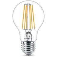 Philips LED Classic Filament 8–75 W, E27, číra, 4000 K