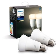 Philips Hue White 9 W E27 súprava 2 ks - LED žiarovka