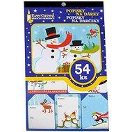 EverGreen Menovky na darčeky ×54, 24 ×15 cm, viacfar. - Vianočné ozdoby