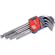 EXTOL PREMIUM L-kľúče IMBUS, sada 9 ks, 1,5 – 10 mm, s guľôčkou - Sada imbusov