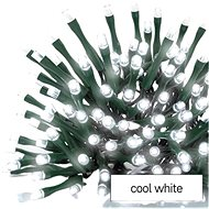 EMOS LED Christmas icicles, 10 m, indoor and outdoor, cool white, programs - Light Chain