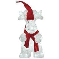 EMOS LED vánoční sob, 34,5 cm, venkovní i vnitřní, studená bílá, časovač - Vianočné osvetlenie