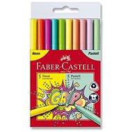 Faber-Castell Grip sada Neon a Pastel, 10 farieb
