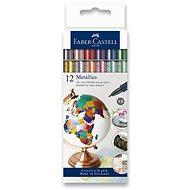 Faber-Castell v metalických farbách, 12 farieb