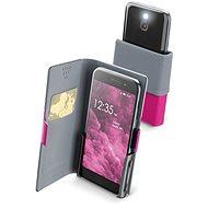 Cellularline Slide&Click XXXL s odklápěcí horní částí PU kůže růžové