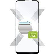 FIXED FullGlue-Cover na Motorola One Vision čierne - Ochranné sklo
