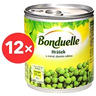 BONDUELLE Hrášok jemný 12× 212 ml - Konzervovaná zelenina
