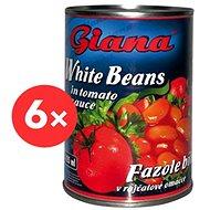 GIANA Fazuľa v paradajkovej omáčke 6× 425 ml - Konzervovaná zelenina