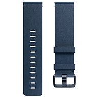Fitbit Versa Accessory Band, Leather, Midnight Blue, Large - Remienok