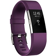 Fitbit Charge 2 Small Plum Silver - Fitness náramok