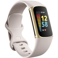 Fitbit Charge 5 Lunar White/Soft Gold Stainless-Steel