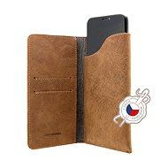 FIXED Pocket Book na Apple iPhone X/XS hnedé - Puzdro na mobil