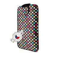 FIXED Soft Slim so zatváraním 5XL motív Rainbow Dots - Puzdro na mobil
