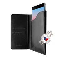 FIXED Pocket Book na Apple iPhone X/XS sivé - Puzdro na mobil