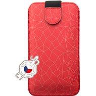 FIXED Soft Slim so zatváraním, PU koža, veľkosť 4XL+ motív Red Mesh - Puzdro na mobil