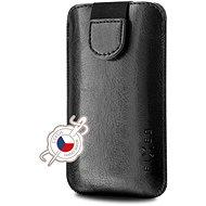 FIXED Soft Slim so zatváraním PU koža, veľkosť 4XL+ čierne - Puzdro na mobil