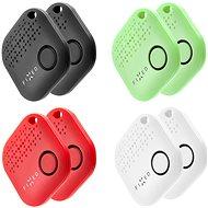 FIXED Smile 8-PACK 2× čierny/2× biely/2× červený/2× zelený - Bluetooth lokalizačný čip