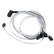 Microsemi ADAPTEC I-rA-HDmSAS-4SATA-SB 0,8 m - Dátový kábel