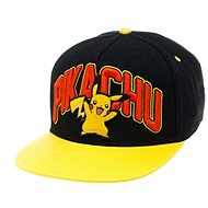 Pokémon Pikachu Black Snapback With Yellow Bill - Šiltovka