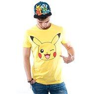Pokémon Pikachu Print Yellow T-Shirt – L - Tričko