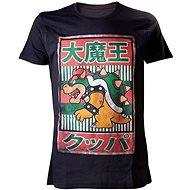 Nintendo Bowser Kanji - čierne - Tričko