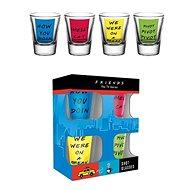 Priatelia – štamprlíky (4×) - Poháre na studené nápoje