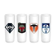 Star Wars – štamprlíky (4×) - Poháre na studené nápoje