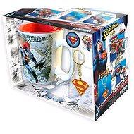 Superman set - hrnek, přívešek, 2x odznak - Darčeková sada