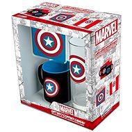 Captain America set – hrnček, podtácka, pohár