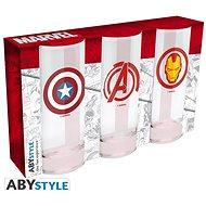 Marvel Heroes – 3× pohár - Poháre na studené nápoje