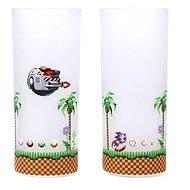 Sonic & Eggman - 2x sklenice - Poháre na studené nápoje