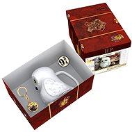 Harry Potter - Hedwig - 3D hrnek, přívěšek, odznak - Darčeková sada