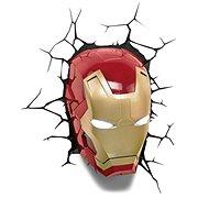 Iron Man - Head - lampa dekorativní na zeď