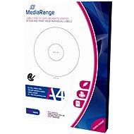 MediaRange CD/DVD/Blu-ray etikety 41 mm - 118 mm biele - Samolepka