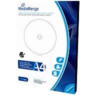 MediaRange CD/DVD/Blu-ray etikety 15 mm – 118 mm biele, vysoký lesk - Samolepka