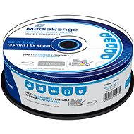 MediaRange BD-R (HTL) 25 GB, Inkjet Printable, 25 ks CakeBox - Médium