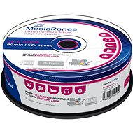 MediaRange CD-R Inkjet Fullsurface Printable 25ks cakebox - Médium