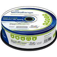 MediaRange DVD-R Waterguard Inkjet Fullprintable 25 ks cakebox - Médium